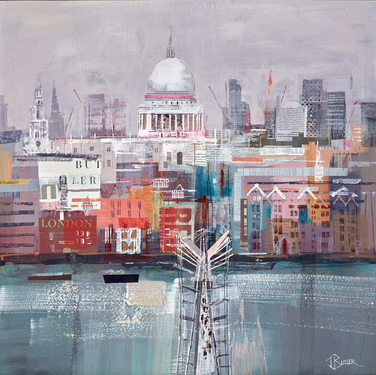 Grey Air by tom butler -  sized 24x24 inches. Available from Whitewall Galleries